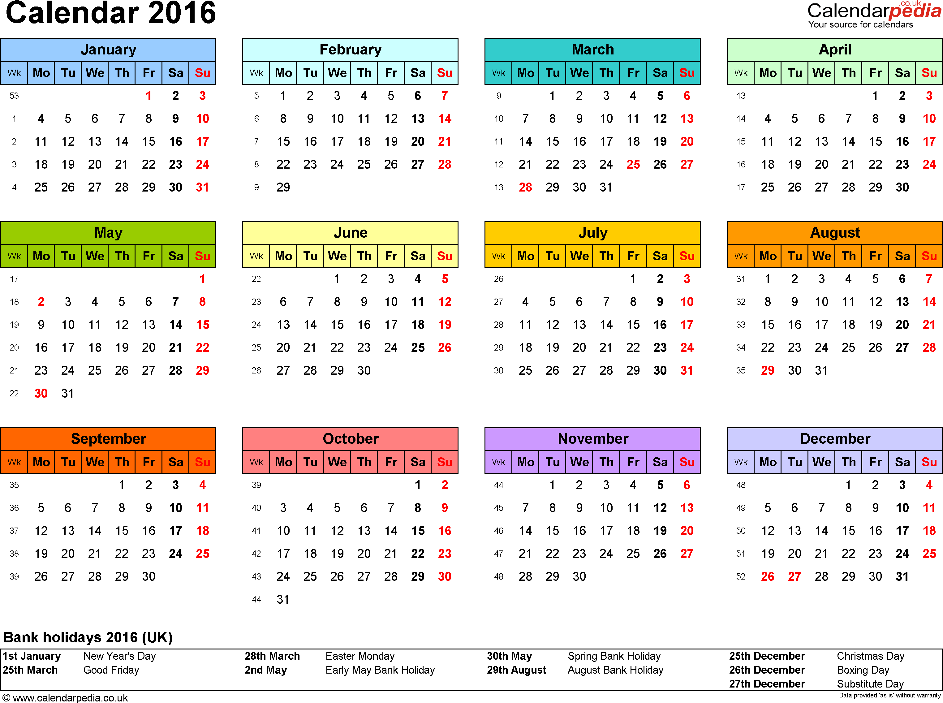 6 Images of 2016 8.5 X 11 Printable Calendar With Holidays