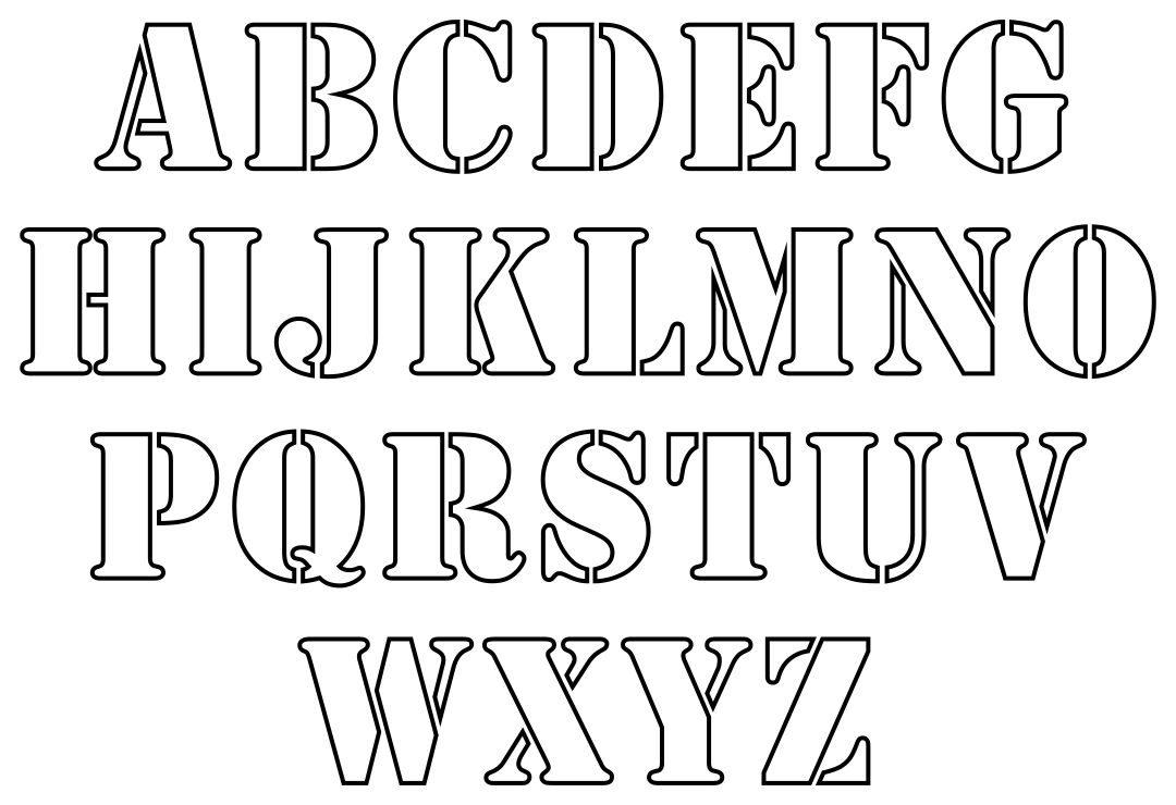 3 Inch Letter Stencils Printable