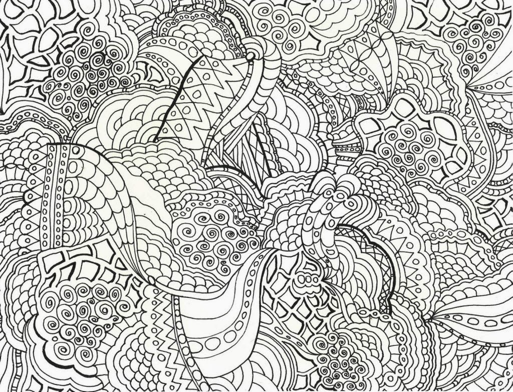 5 Images of Abstract Shape Coloring Pages Printable