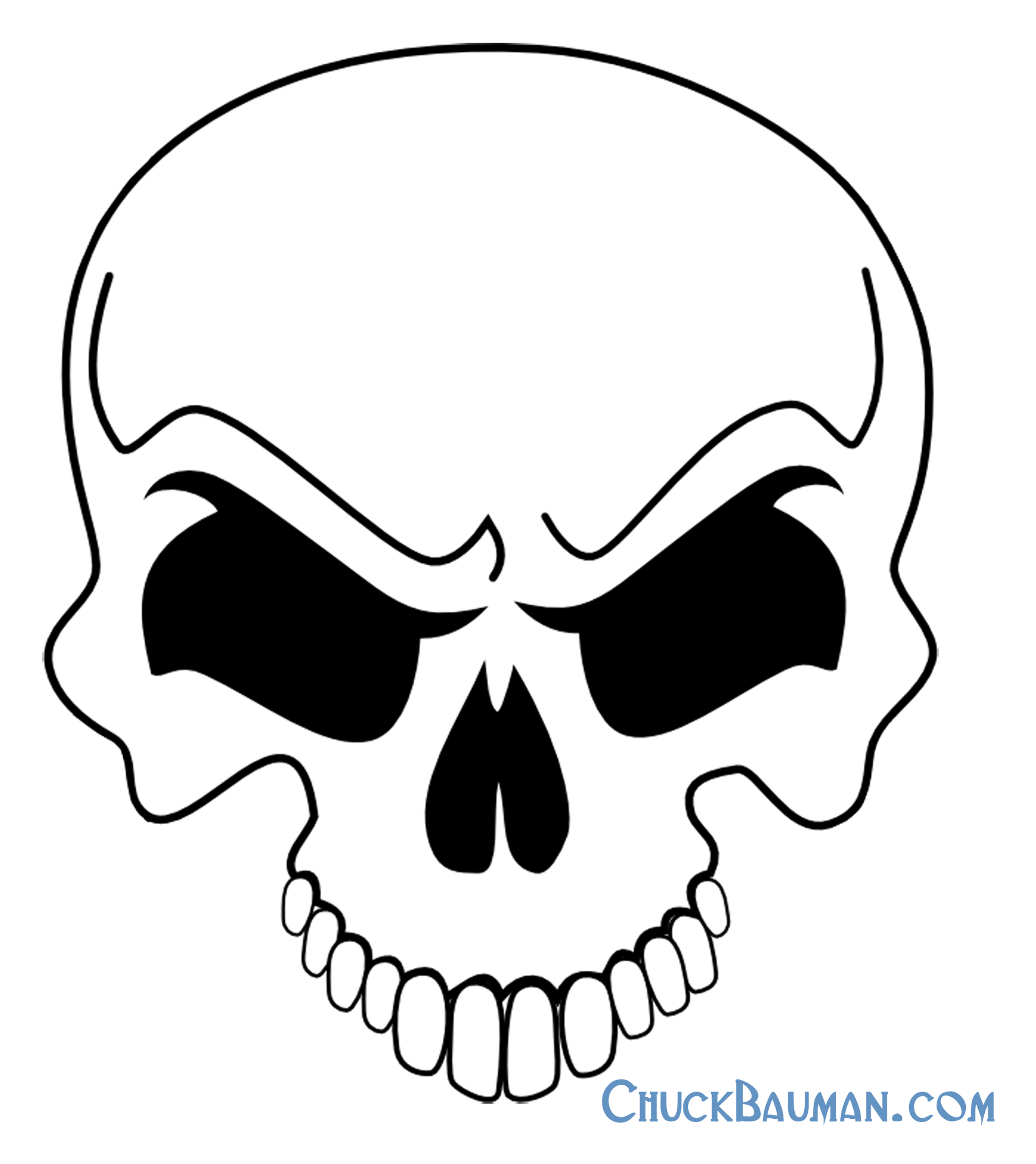 7 Images of Printable Skull Template