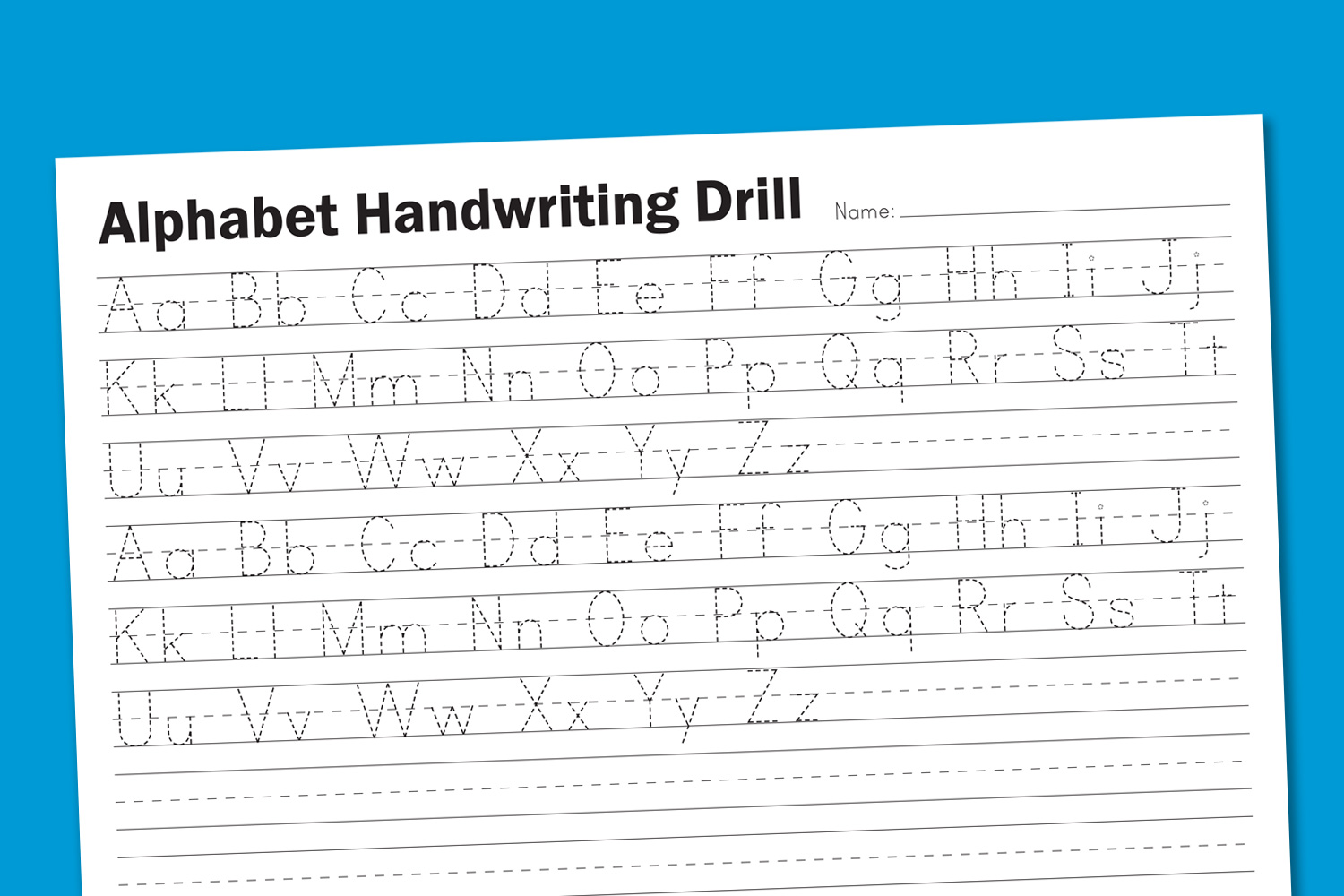 6 Images of Free Printable Alphabet Handwriting Worksheets