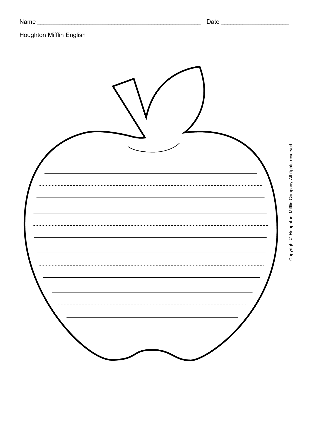 leaf writing template