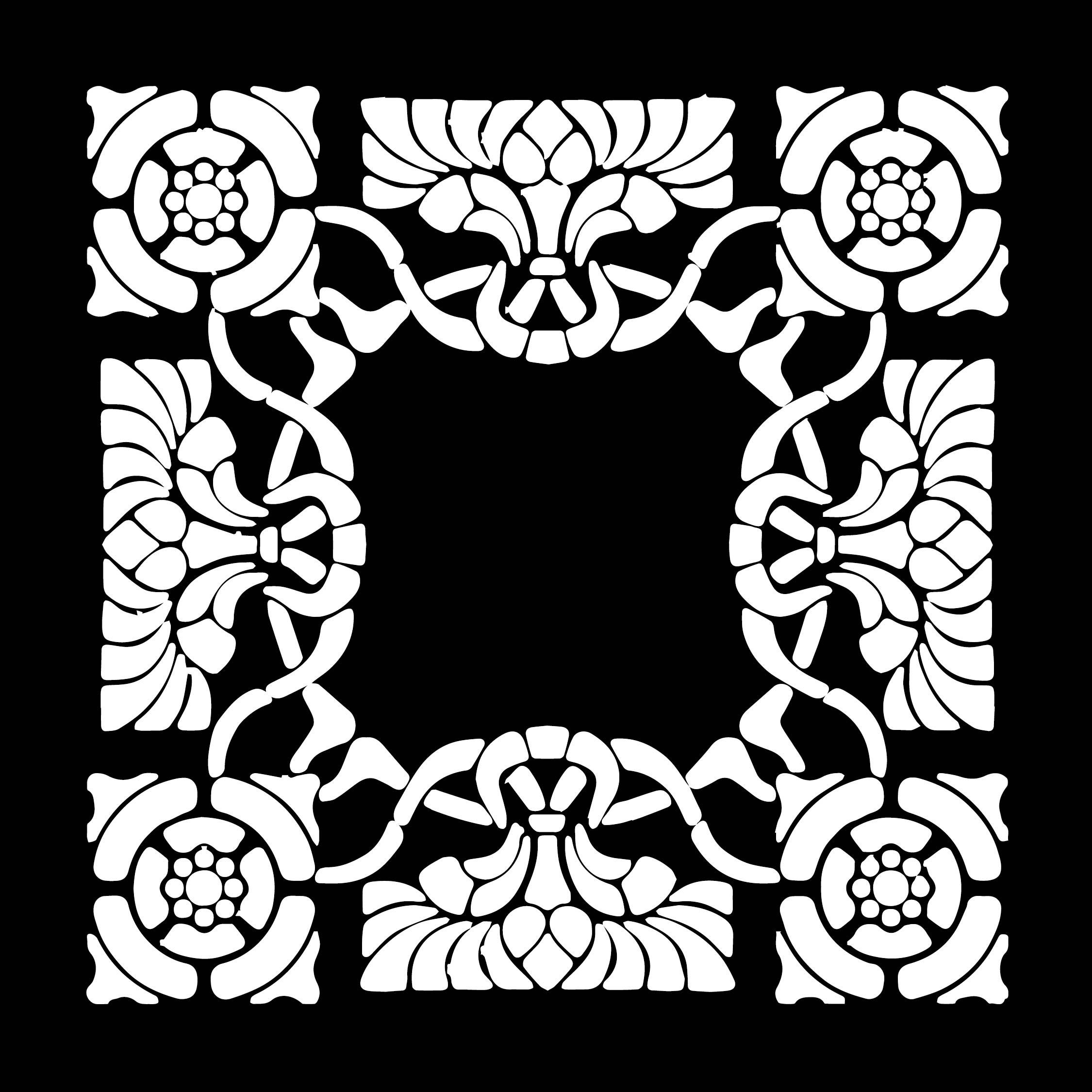 Art Nouveau Patterns Black and White