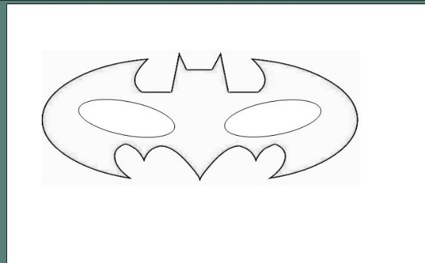 6 Images of Easy Batman Mask Printable Template