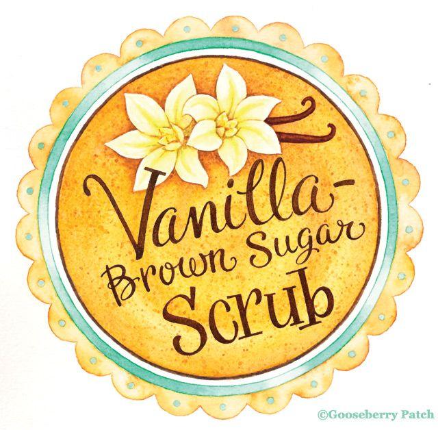 4 Images of Brown Sugar Scrub Printable Labels
