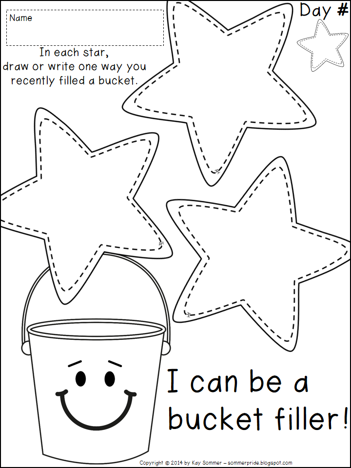 7 Images of Bucket Filler Coloring Printable