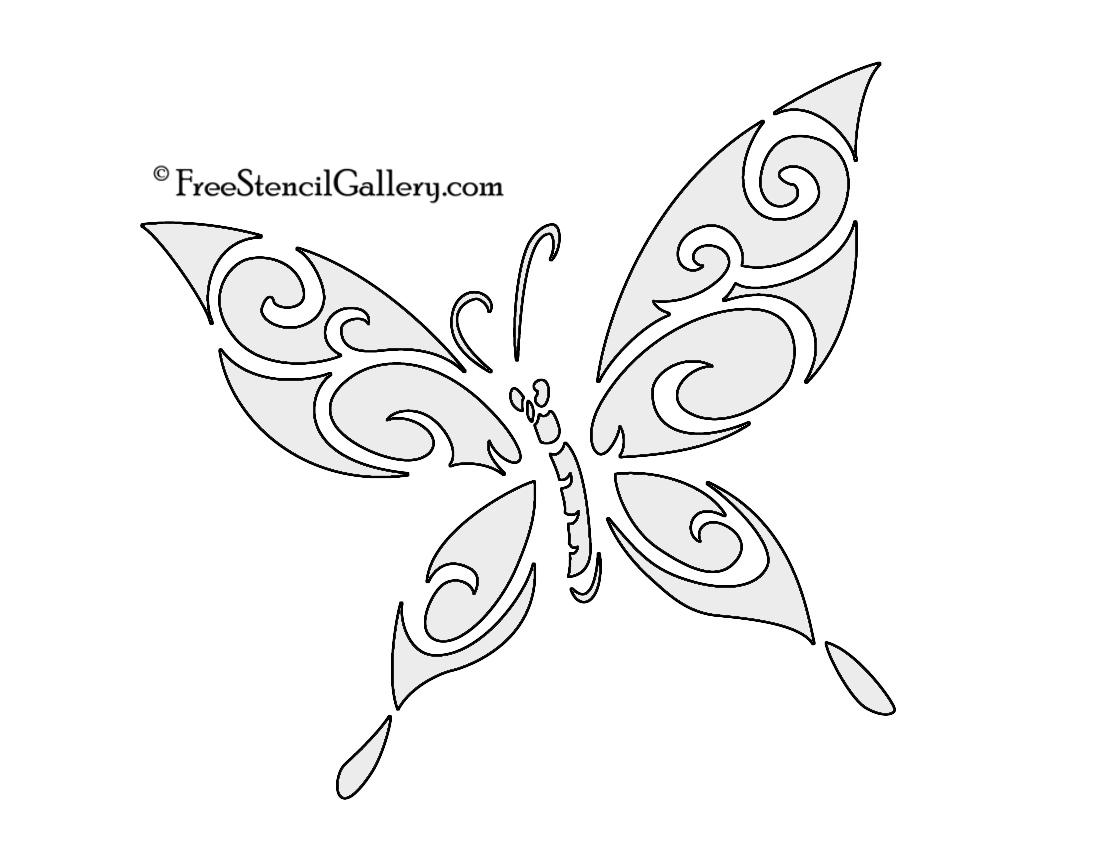 Butterfly Pumpkin Stencil