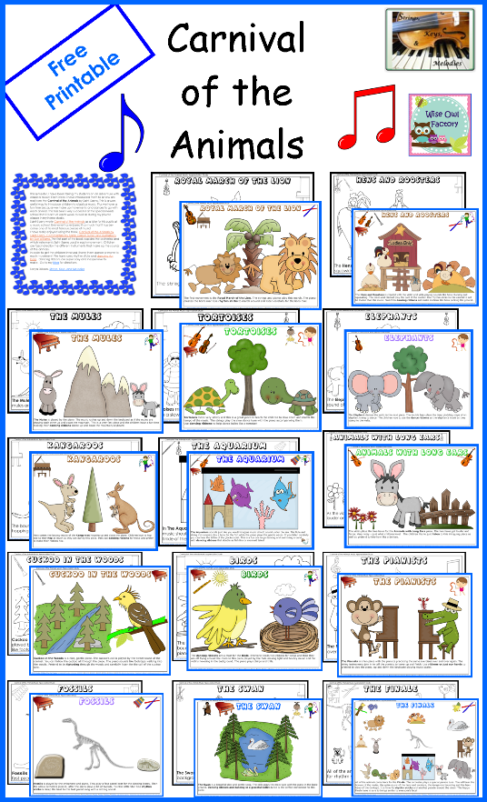 carnival of the animals coloring pages - 7 best images of carnival clip art free printable school