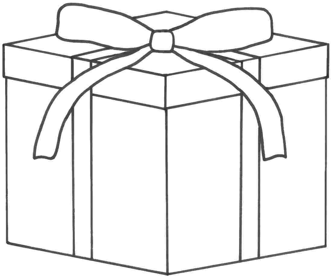 4 best images of christmas present template printable for Coloring pages of christmas presents