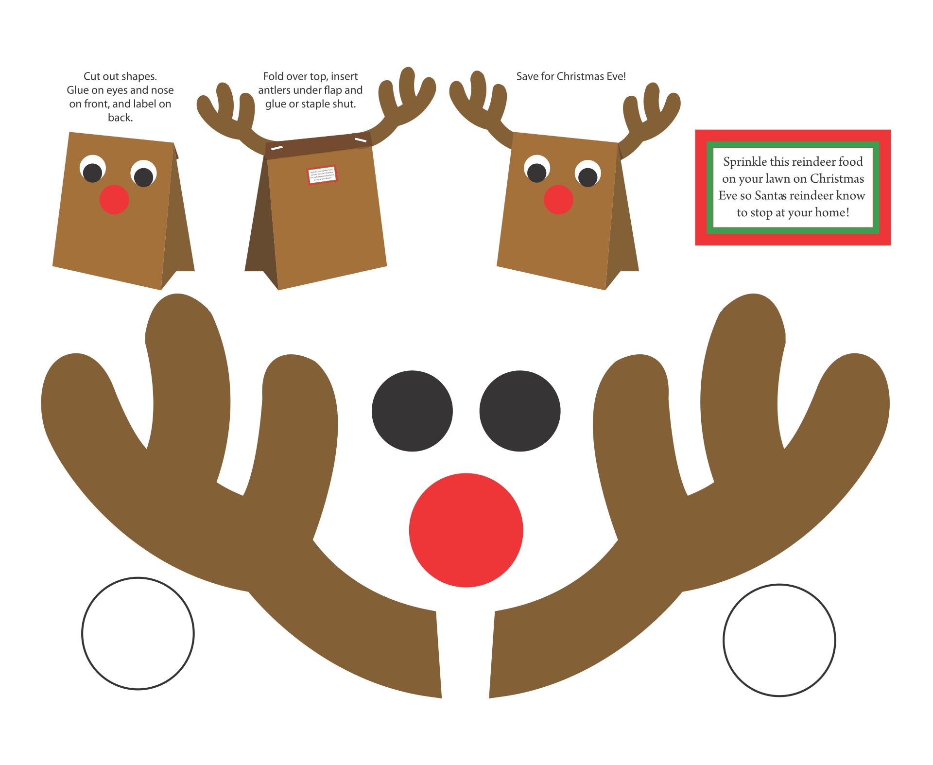 Christmas Reindeer Felt Craft Templates
