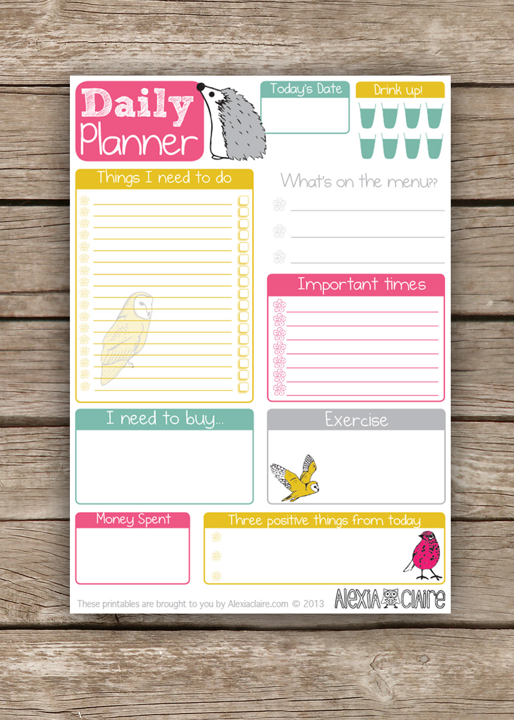 8 Best Images of Cute Student Planner Printable - Free ...