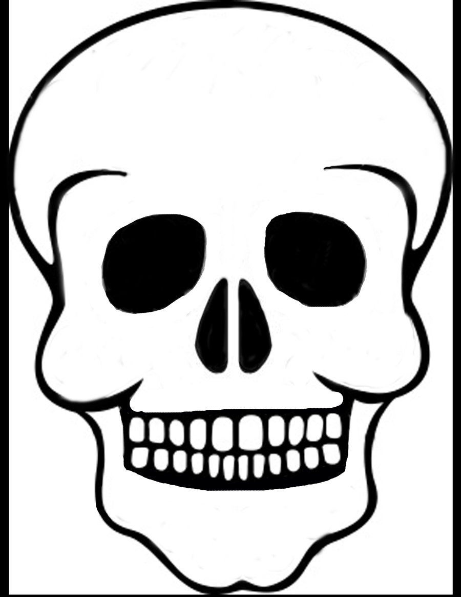 7 best images of printable skull template airbrush skull for Day of the dead skull mask template