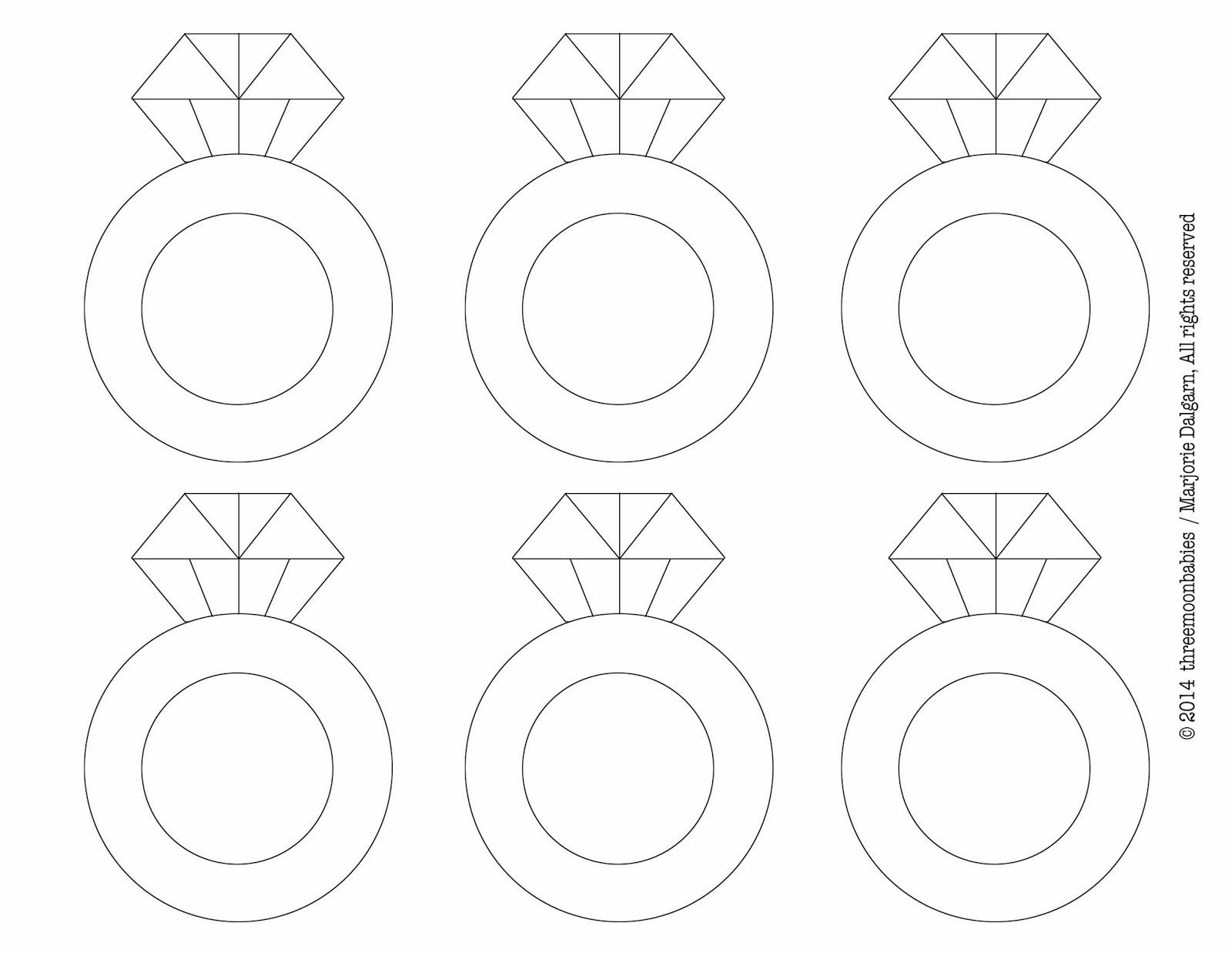 6 Images of Printable Diamond Ring Template