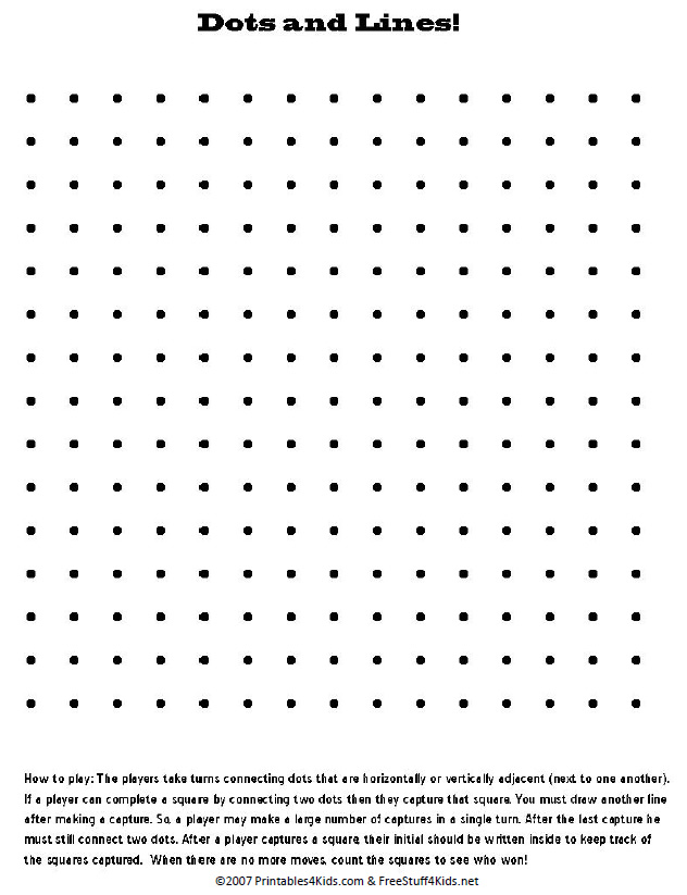 5 Images of Lines And Dots Game Printable