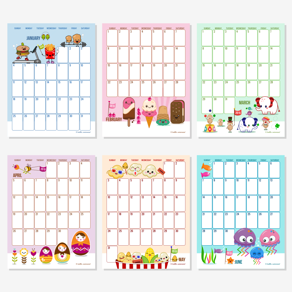 Monthly Calendar Printable - Editable Monthly Calendar 2015 Printable ...
