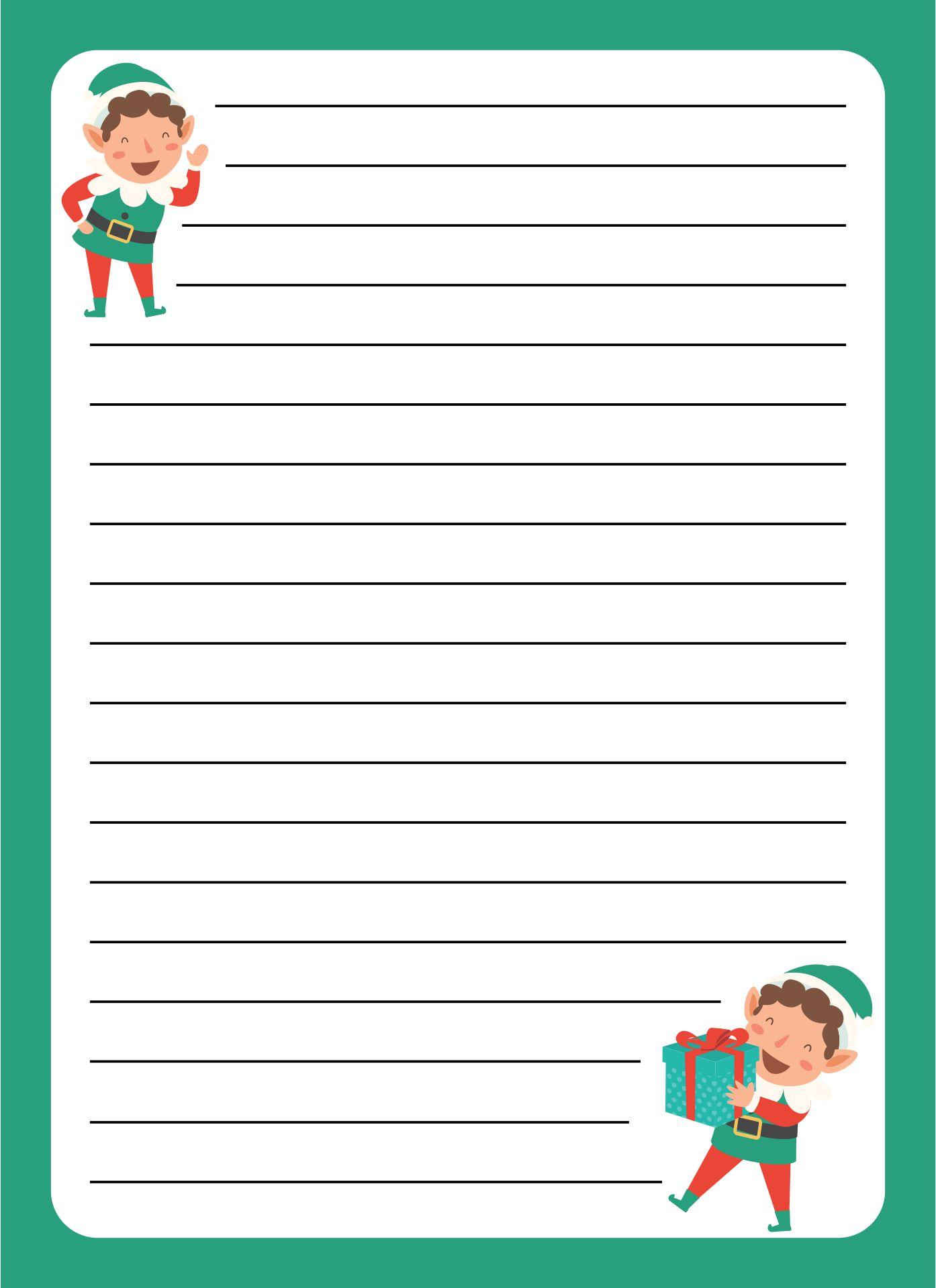 Elf Christmas Border Template