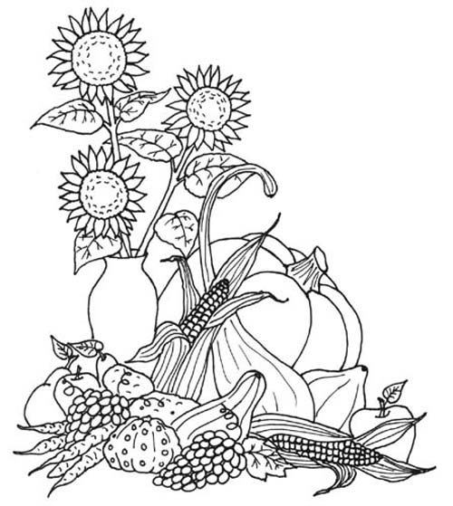 4 Images of Free Printable Adult Coloring Pages Autumn