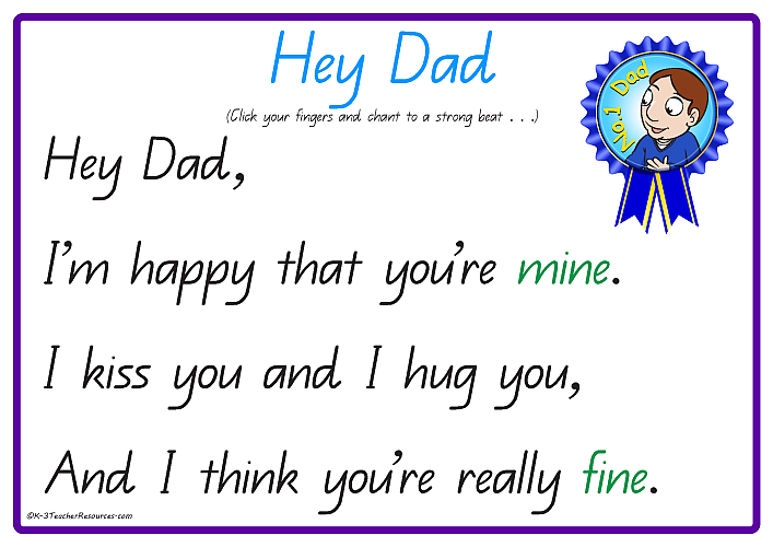 Free Father's Day Poems