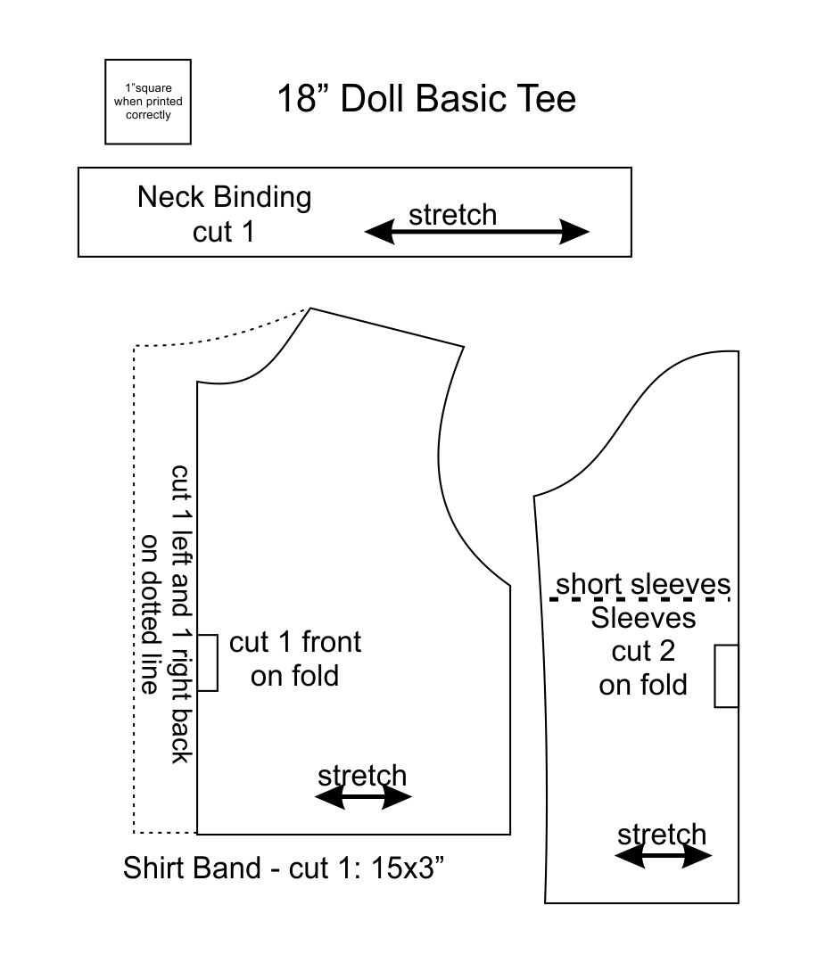 5 Images of Free Printable 18 Inch Doll Clothes Patterns