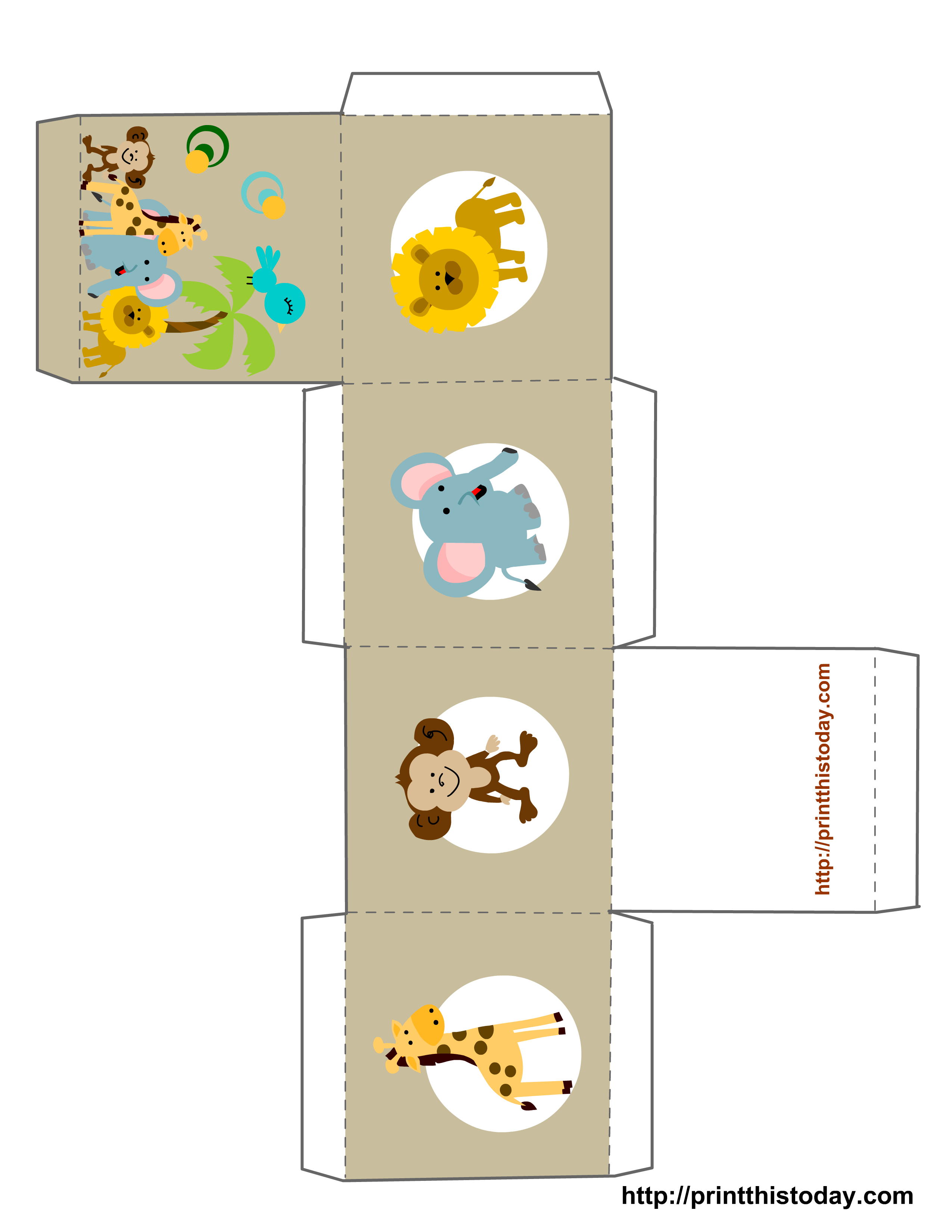 6 Images of Printable Baby Shower Favor Templates