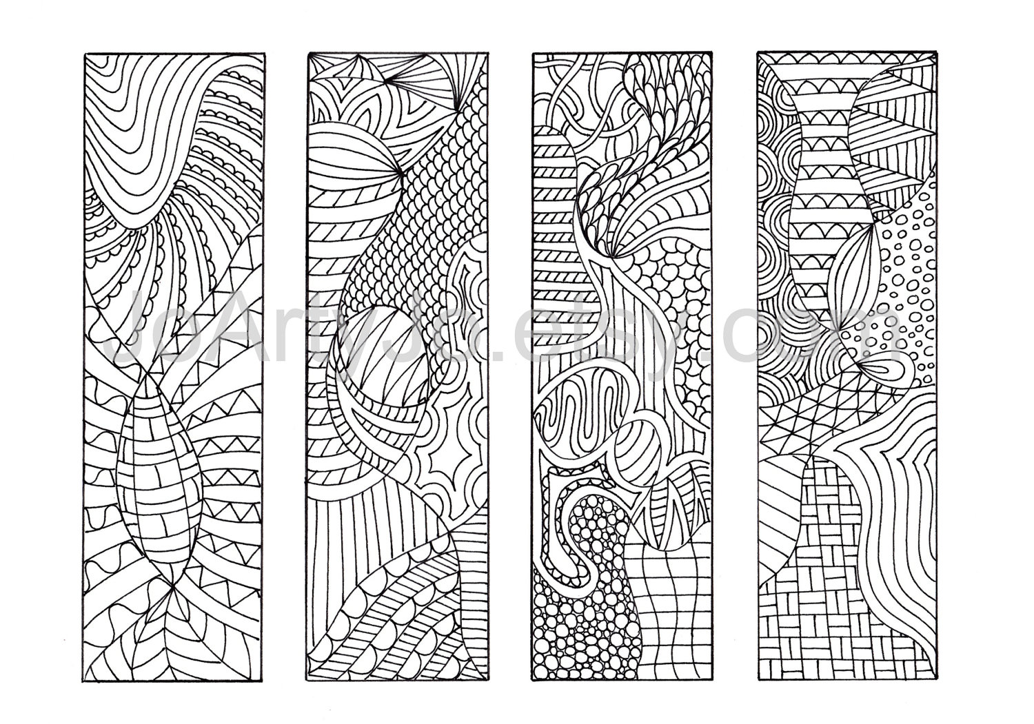 6 Images of Zentangle Bookmark Designs Free Printable