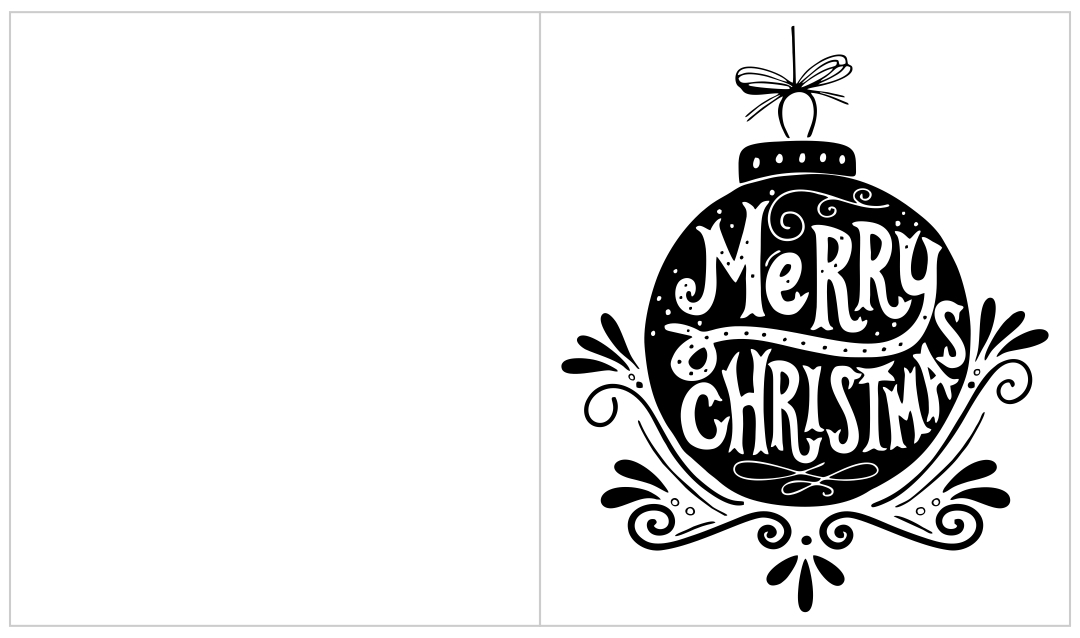 Printable Christmas Card Designs