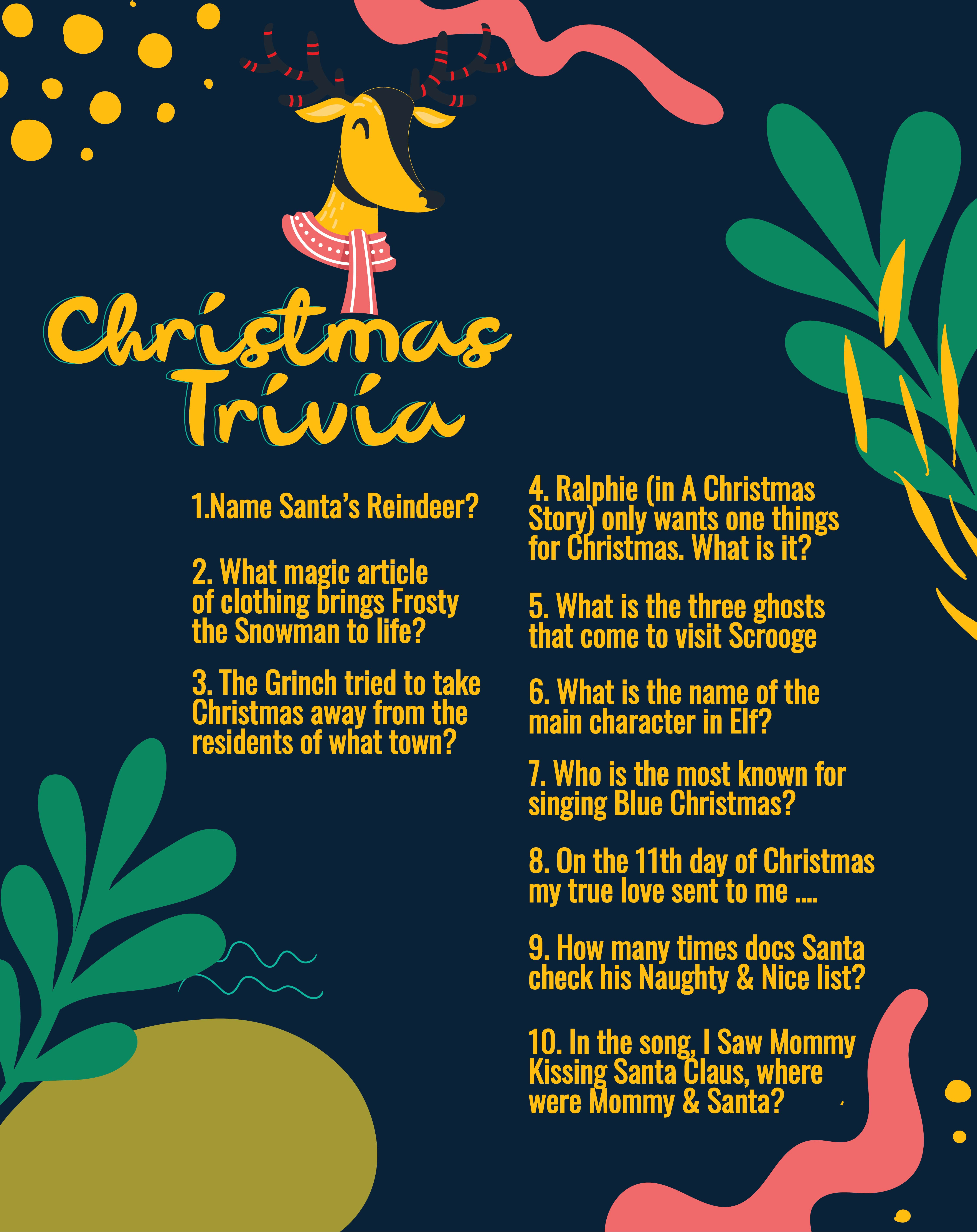 7 Best Christmas Printable Trivia With Answers Printablee Com