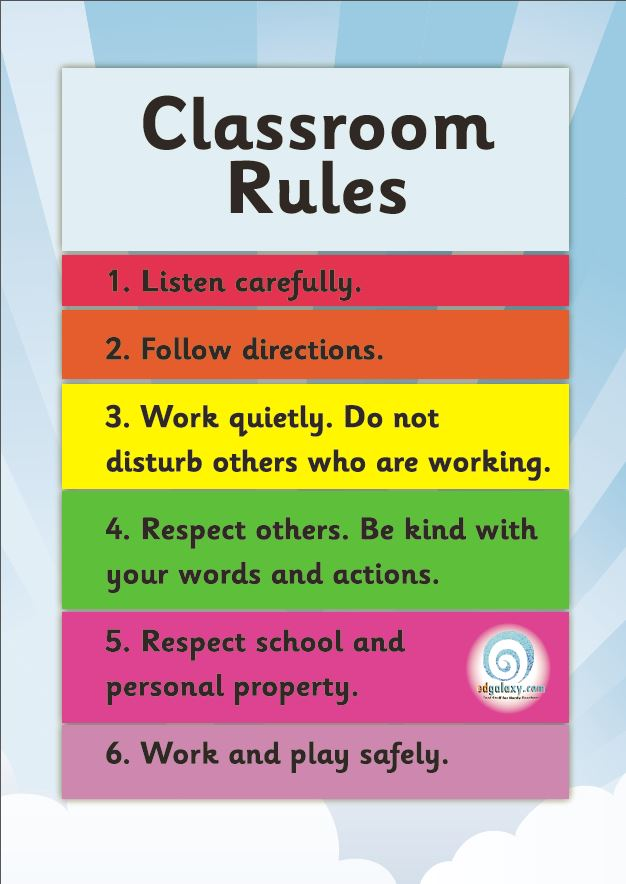 5 Images of Printable Classroom Rules Poster