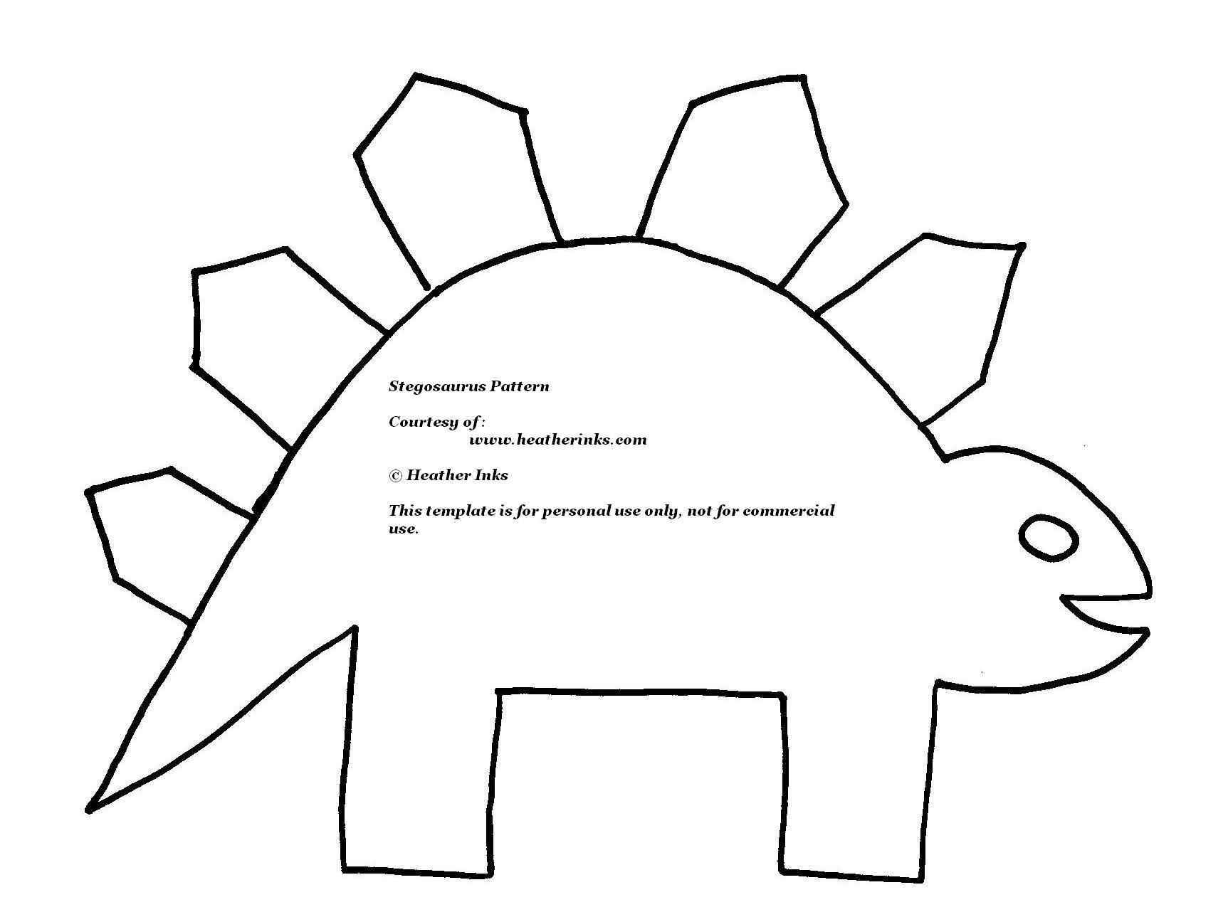5 Images of Preschool Printable Dinosaur Pattern