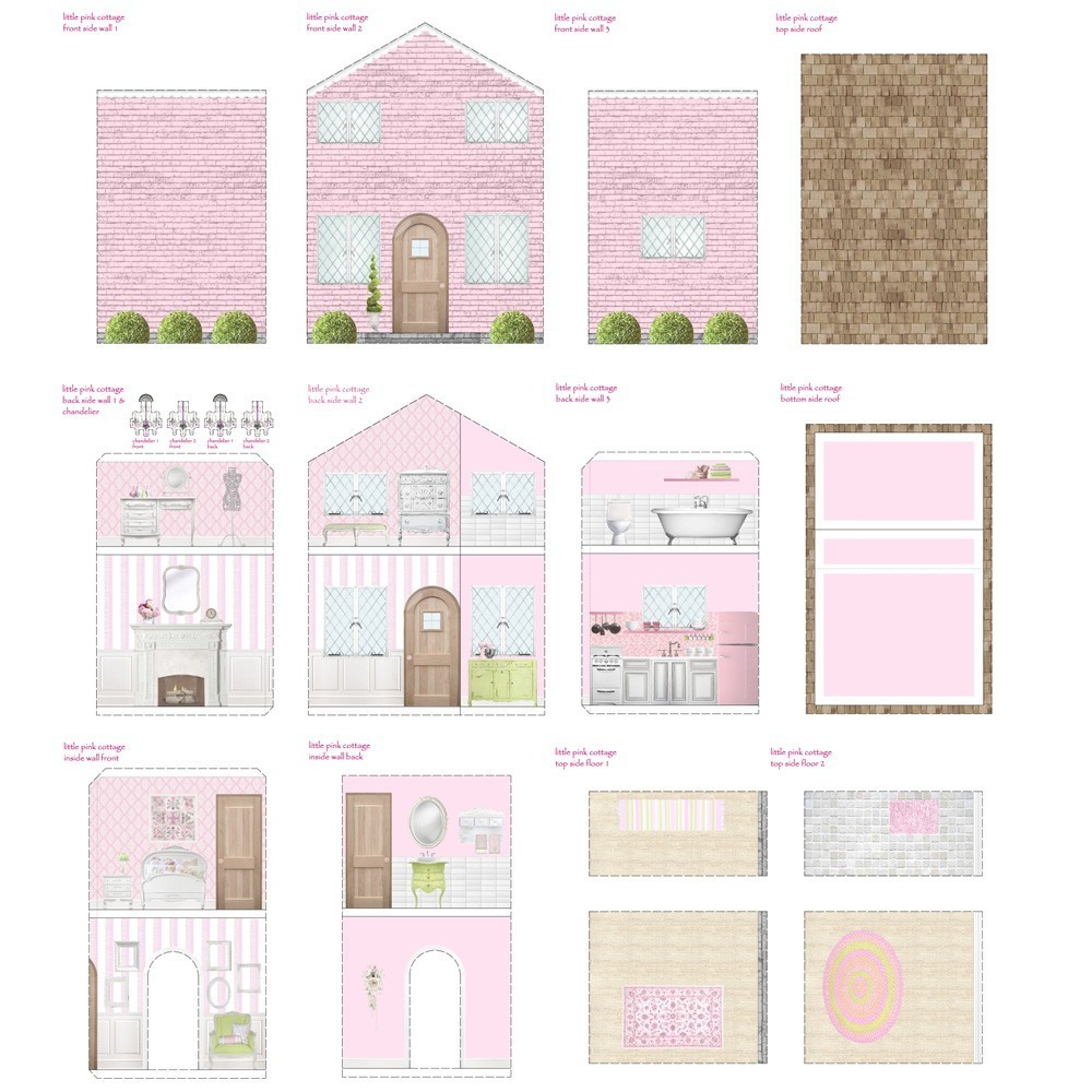 Free Dolls House Miniature Printables - Baby Dolls Ideas