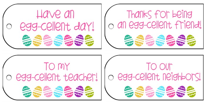 5 Images of Happy Easter Tags Printable For Teachers