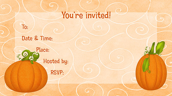 Free Printable Fall Party Invitations Templates