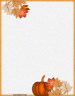 Free Printable Fall Stationery Borders