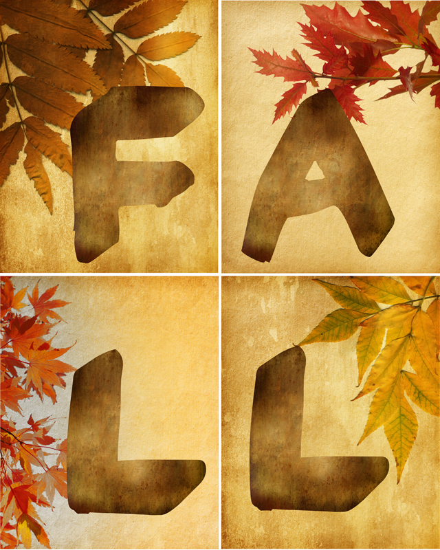 4 Images of Fall Printable Wall Art