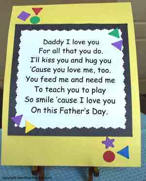 4 Images of Printable Father's Day Poems