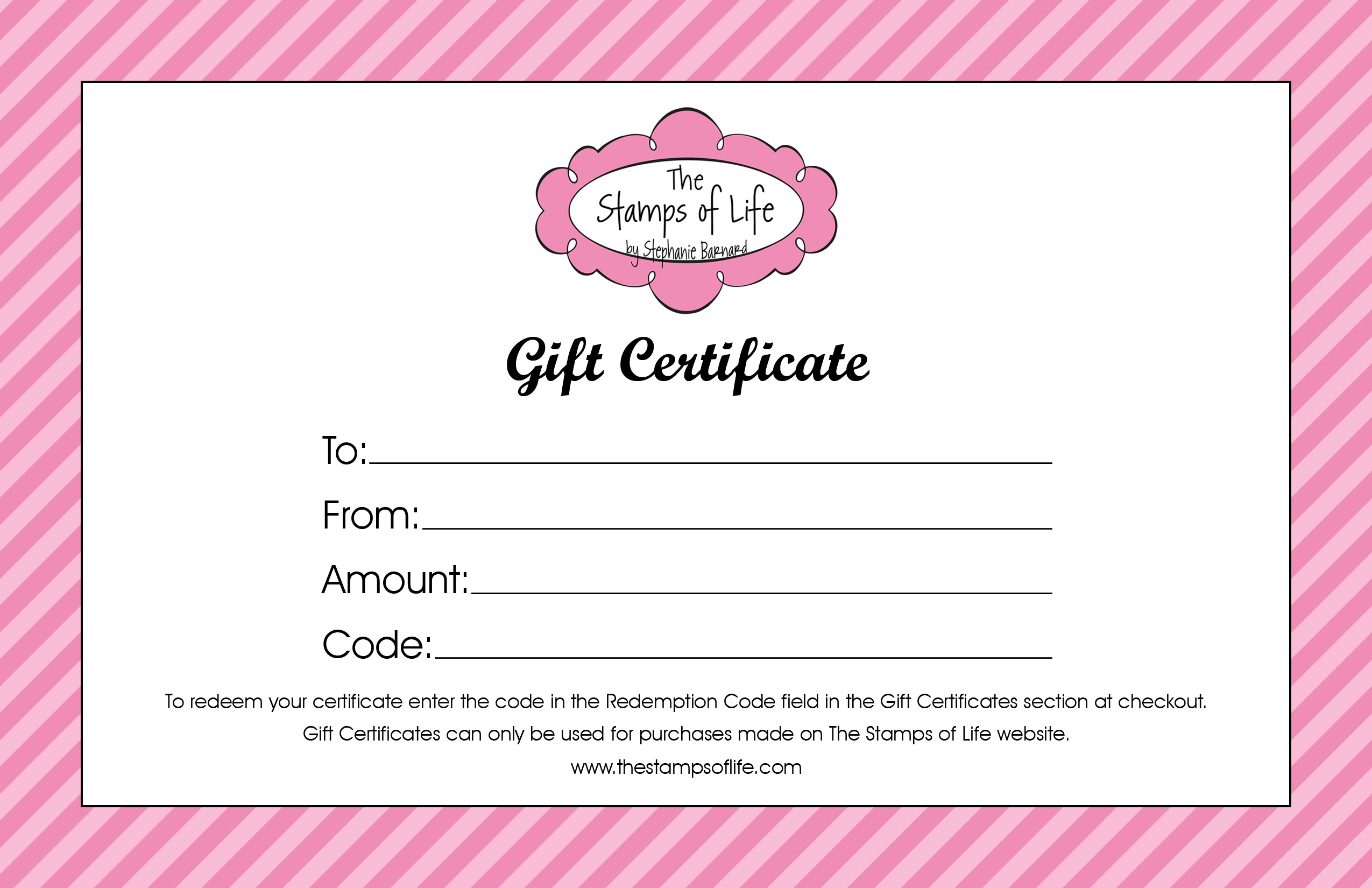 6 Images of Printable Gift Certificates