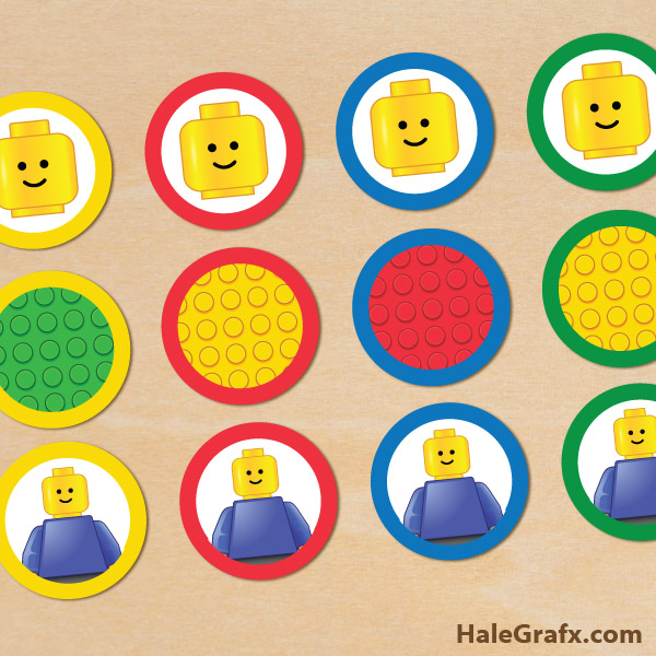 9 Images of LEGO Printables Free Cupcake