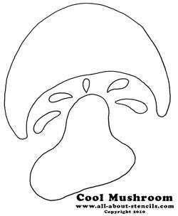 7 Images of Free Printable Mushroom Patterns