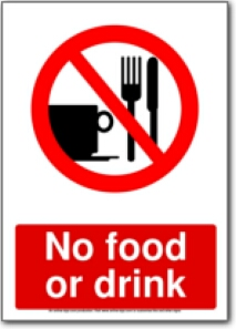 5 Images of No Food Or Drink Signs Printable