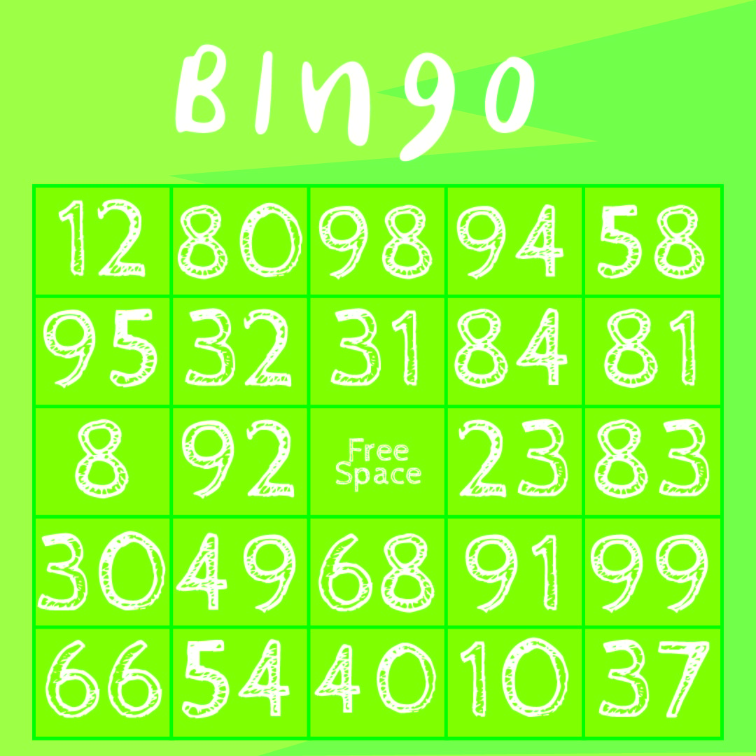 6 Images of Classic Bingo Cards Printable