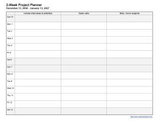 Free Printable Project Planner Template