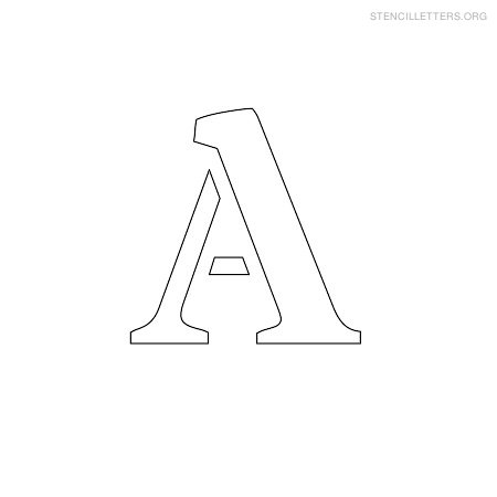 9 Images of Printable Small Stencils All Letters