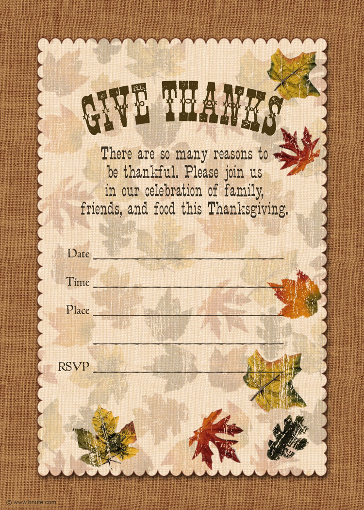 5 Images of Thanksgiving Invitations Printable Fill In
