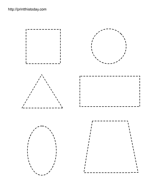 Free Printable Tracing Shapes Worksheets Preschool