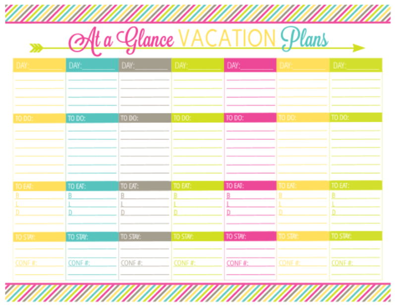 8 Images of Printable Vacation Planner