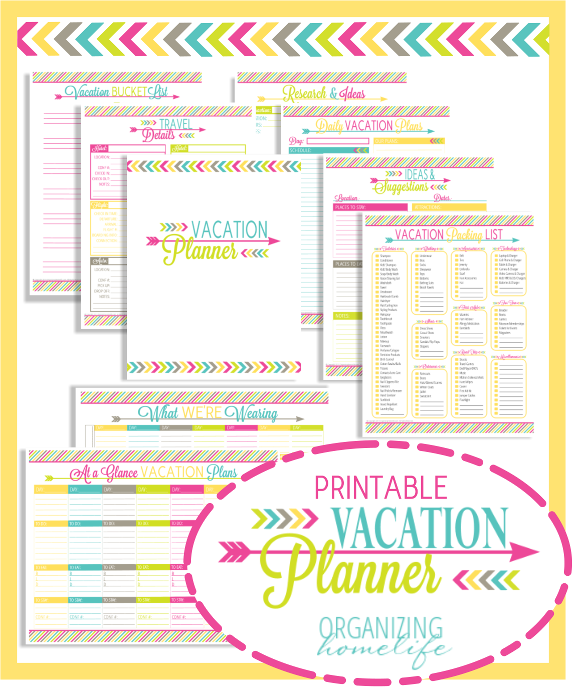 7 Images of Travel Life Home Organizing Printables