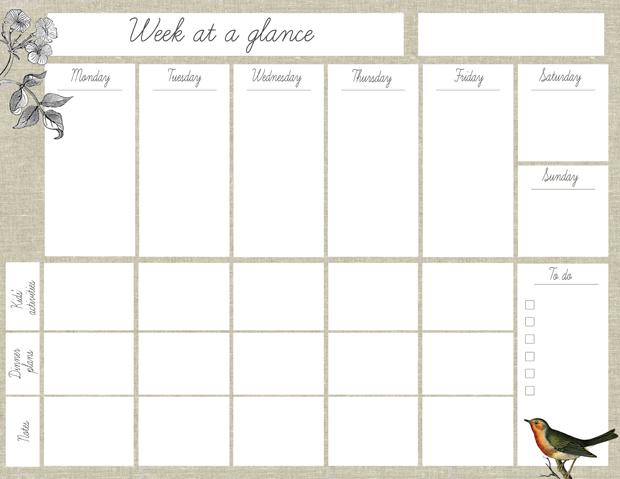 7 best images of free printable week at a glance calendar 2015 free printable weekly planner. Black Bedroom Furniture Sets. Home Design Ideas