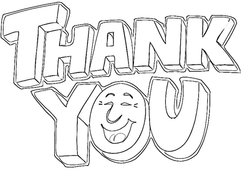 7 Images of Thank You Printable Coloring Pages