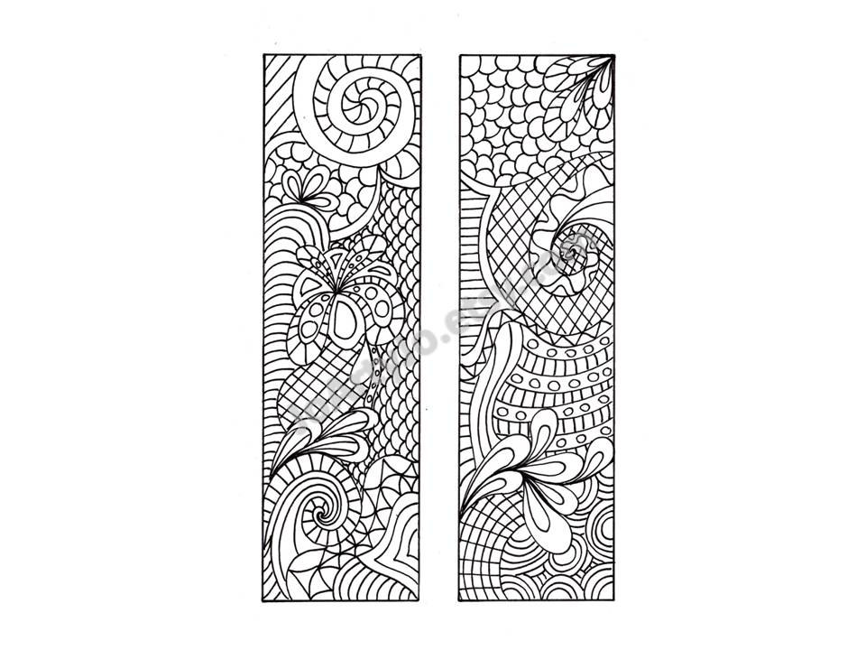 9 Best Images of Printable Bookmarks To Color Zentangle ...
