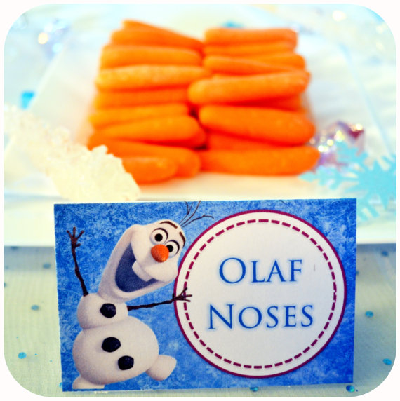 6 Images of Frozen Party Food Labels Printable